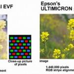 Matriz de puntos del EVF de la E-M5 fabricado por Epson