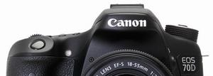 """APS-C 2ª: Canon EOS 70D Sensor APS-C de 20 Mpixels y sistema de enfoque para video """"Dual Pixel AF"""" muy interesante."""